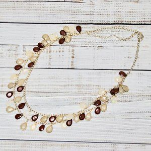 Layered Brown & Gold Necklace
